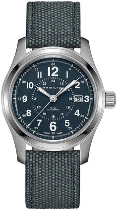 Explore the Hamilton Khaki Field collection of Swiss made military watches. Our rugged, robust tactical watches offer army style with outdoor capabilities. Hamilton Khaki Field Automatic, Hamilton Khaki Navy, Hamilton Jazzmaster, Gentleman Watch, Field Watches, Hand Watch, Khakis, Automatic Watch, Watch Brands