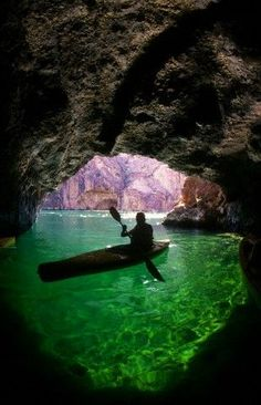 Emerald Cave on the Lower Colorado River in Black Canyon, Arizona.