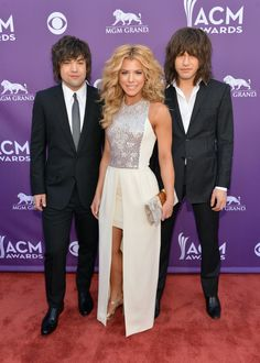 Neil Perry, Kimberly Perry and Reid Perry of the Band Perry - 2013 Academy of Country Music Awards