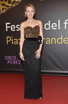 Kylie Minogue Wearing Marco Bicego Africa Bracelet Locarno Film Festival