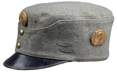 Feldgraue Kappe für Offiziere M. 1915, Military Cap, Military Uniforms, Austrian Empire, Austro Hungarian, Army Uniform, Ludwig, Military Equipment, World War I, Historical Clothing