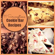 YUM!! Cookie Bar Recipes!!
