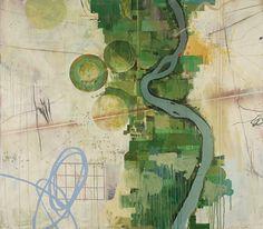 Thomas Aaron   Water Rights, Mixed media, 2010, 68″ x 60″