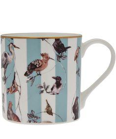 House of Hackney Duck Egg Flights of Fancy Bone China Mug | Home | Liberty.co.uk