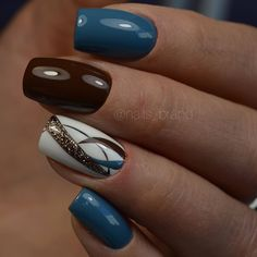 40 Wonderful Nail Art Ideas All Girls Should Try – Style O Check - nail designs Fingernail Designs, Acrylic Nail Designs, Nail Art Designs, Acrylic Nails, Nails Design, Fancy Nails, Cute Nails, Pretty Nails, Polygel Nails