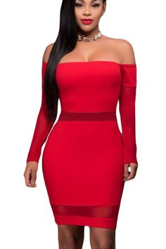 Robe rouge moulante h&m