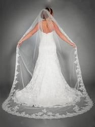 #EricDress - #EricDress Ericdress Gorgeous 1T Lace Edge Wedding Veil - AdoreWe.com