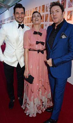 David Gandy attending The Vogue 100 Gala Dinner at East Albert Lawn, Kensington Gardens, London - 23/05/16