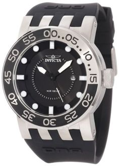 Invicta Men's 12423 DNA Black Dial Black Silicone Watch - http://www.bestwatchdeals.co/best-sellers/invicta-mens-12423-dna-black-dial-black-silicone-watch/ #12423, #Black, #Dial, #DNA, #Invicta, #Mens, #Silicone, #Watch