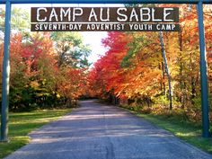 Fall colors at Camp Au Sable, Seventh-Day Adventist Youth Camp, near Grayling, Michigan Grayling Michigan, Otsego Lake, Places Ive Been, Places To Go, Houghton Lake, Youth Camp, Seventh Day Adventist, Indian River, Sabbath