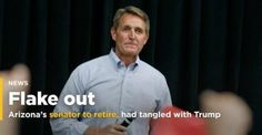 GOP Sen. Flake says he'll retire, had tangled with Trump