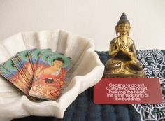 Buddha Quotes Mini Oracle Cards, meditation set, Buddhist wisdom cards, Buddhist…