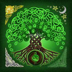 Circle Celtic Tree of Life by Kristen Fox