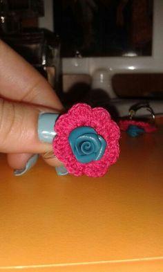 Crochet&fimo Flowers errings