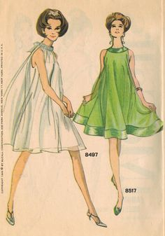 """The Midvale Cottage Post: """"Night Lights"""" - McCall's Evening Fashions from November 1966.  midvalevintagepost.blogspot.com"""