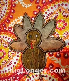 Looking for your next project? You're going to love Applique Turkey embroidery file by designer Hug Longer.