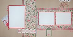 """Pear and Partridge """"Presents Under the Tree"""" Layout from CTMH."""