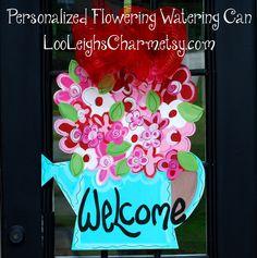 Door Hanger: Summer Door Decoration, Flower Door Hanger