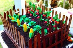 "completely edible ""garden"" cake."
