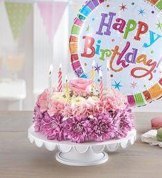 Happy Birthday Flower Cake, Birthday Wishes Flowers, Birthday Wishes For Daughter, Happy Birthday Video, Happy Birthday Images, Happy Birthday Greetings, Cake Birthday, Mothers Day Flower Delivery, Mothers Day Flowers