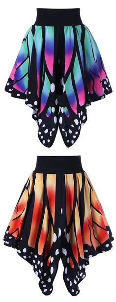 High Waist Butterfly Shape Skirt