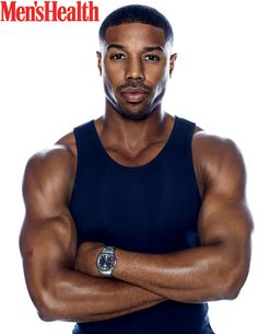"""""""Black Panther,"""" """"Fahrenheit 451"""" and """"Creed II"""" actor Michael B. Jordan covers the April 2018 issue of Men's Health magazine photographed by Art Streiber. On his name: """"I'm competitive. I want to compete in anything I do. That came from my name. Growing up in sports and having a name like Michael Jordan and"""