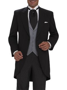 Get your charcoal grey cutaway lapel tuxedo by Joseph & Feiss at MooresClothing. View our prestyled tuxedo looks for weddings, proms & special occasions. Morning Coat, Morning Suits, Morning Dress, Groom And Groomsmen Suits, Groomsmen Outfits, Groom Attire, Tuxedo Wedding, Wedding Suits, Wedding Attire