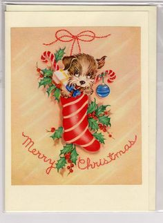 Christmas card Made from a vintage Illustration by vintagevic