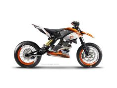 This guy (and a bunch of his mates) are KTM nuts and very talented car and bike designers. In their spare time they design KTM concept bikes. The pic above is loosely based on an The supermoto. Ktm Dirt Bikes, Ktm Motorcycles, Concept Motorcycles, Motocross Bikes, Custom Motorcycles, Custom Bikes, Motos Ktm, Ktm Supermoto, Supermoto Wheels