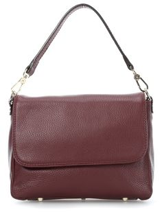 Calf Adria Shoulder Bag bordeaux 26 cm