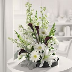 white lilies flower arrangements - Google Search