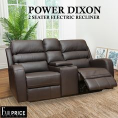 Power Electro Dixon is one of the finest recliners we have available to offer. Crafted in tough leather air which makes it more durable and less maintenance required. The 2 Seater to provide you with the ultimate convenience and cinema experience. Get your hands on these to enjoy the comfort at the fullest.