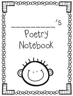 cute poetry notebook covers.  boy & girl versions.  free printables.