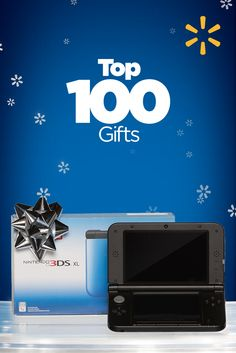 Top 100 Gifts | Walmart - Make it a 3D Christmas! The Nintendo 3DS XL system is one of this year's hottest gifts for teens. It combines next-generation portable gaming with eye-popping 3D visuals without the need for special glasses. Take 3D photos or connect to friends and use wireless hot spots with the wireless StreetPass and SpotPass communication modes.