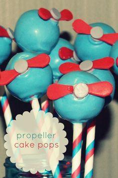 Propeller Cake Pops www.spaceshipsandlaserbeams.com