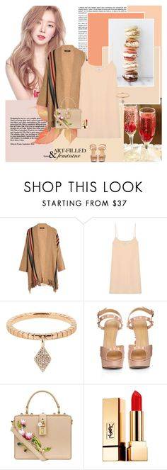 """Feminine"" by giko-is-giantsister ❤ liked on Polyvore featuring Weekend Max Mara, Raey, Diane Kordas, Charlotte Olympia, Dolce&Gabbana and Yves Saint Laurent"