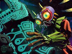 New Zelda, Zelda Drawing, Legend Of Zelda Memes, Japanese Games, Masks Art, High Fantasy, Twilight Princess, Cthulhu, Game Art