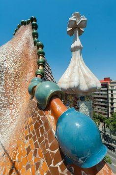 Casa batllo von Antonio Gaudi in Barcelona