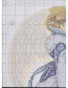 Punto de Cruz GRATIS: Angel Violeta.