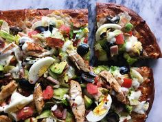 Topping a cheesy slice of pizza with a loaded handful of salad is the perfect compromise when you're trying to eat healthier, but still...