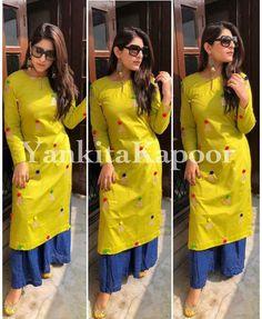 Indian Women Kurta Palazzo Dress Set Ethnic Pakistani Kurti Top Tunic Bottom New Palazzo Dress, Kurta Palazzo, Palazzo Pants Indian, Patiala, Salwar Kameez, Churidar, Sharara, Salwar Suits, Lehenga Choli