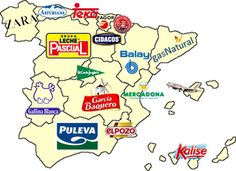 El mapa corporativo de España: Algunas empresas de consumo más representativas originarias de cada Comunidad Autónoma, excluidas entidades financieras