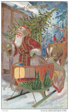 CHRISTMAS : Santa Claus & Sled , 00-10s - Delcampe.com