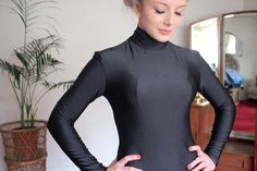 Vintage 1980s Issey Miyake Top Black Polo Neck at TinCupVintage, £65.00