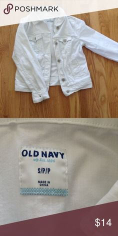 White Jean Jacket White jean jacket from Old Navy. Worn maybe twice and in perfect condition. Old Navy Jackets & Coats