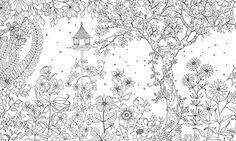 Adult & kid coloring pages from Secret Garden Coloring book