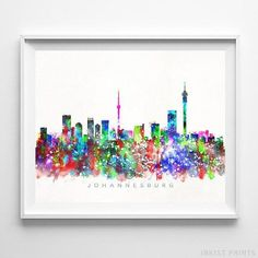 Birmingham city skyline moderne b/&w toile wall art multi panel photo print