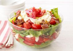 Hearty 7-Layer Salad with Bacon: Layered Salad