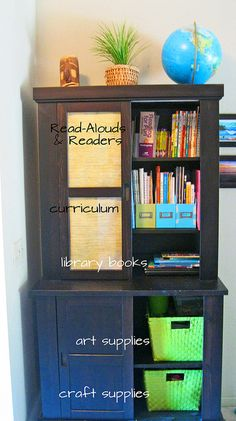 homeschool storage hutch-something like this would be nice.