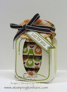 Nugget Jar - How cute is this and video to show you how to make it!